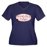 """Accounting Diva"" [red] Women's Plus Size V-Neck D"