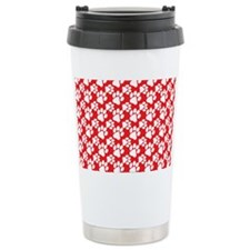 Dog Paws Red Travel Mug