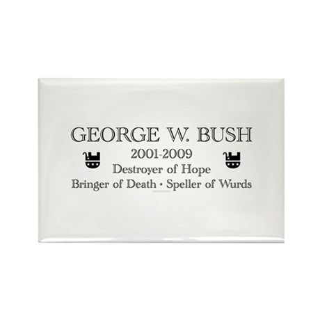 "George W. Bush ""Obituary"" Rectangle Magnet (10 pac"