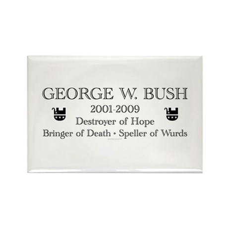 "George W. Bush ""Obituary"" Rectangle Magnet"