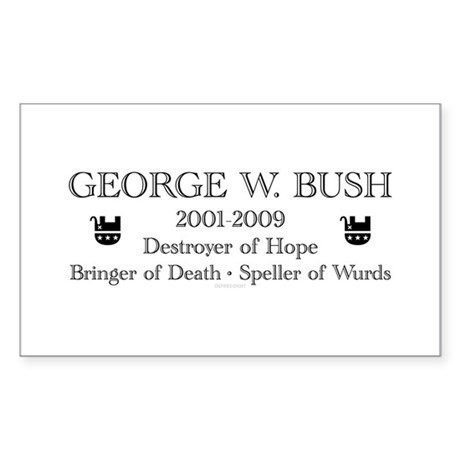 "George W. Bush ""Obituary"" Rectangle Sticker"
