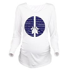 I Choose Peace Long Sleeve Maternity T-Shirt