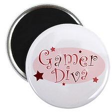 Gamer Diva [red] Magnet