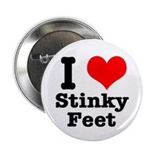 I Heart (Love) Stinky Feet Button