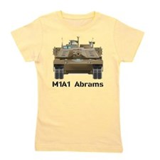 M1A1 Abrams MBT Front View Girl's Tee