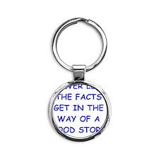 facts Round Keychain