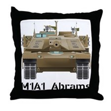 M1A1 Abrams MBT Front View Throw Pillow