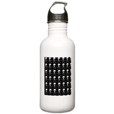 White Skulls and Bones Water Bottle