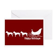 """Staffie """"Sleigh"""" Greeting Cards (Pk of 10)"""