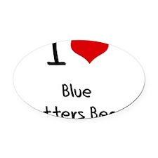 I Love BLUE SHUTTERS BEACH Oval Car Magnet
