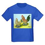 Mille Fleur Rooster & Hen Kids Dark T-Shirt