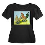 Mille Fleur Rooster & Hen Women's Plus Size Scoop