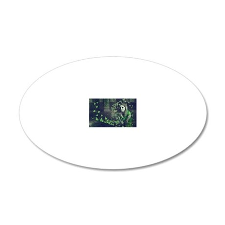 Spun Ivy 20x12 Oval Wall Decal