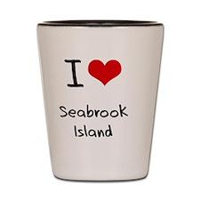 I Love SEABROOK ISLAND Shot Glass