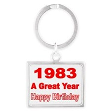 1983  A Great Year Landscape Keychain