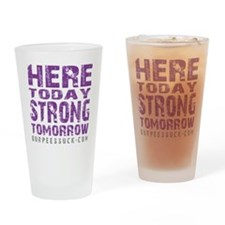 HERE TODAY - PURPLE Drinking Glass