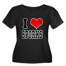 I Heart (Love) Sporks T