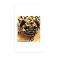 Leopard Skin Pug Rectangle Decal