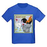 Bantam Chickens Kids Dark T-Shirt