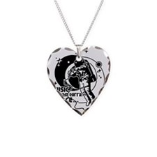 Music from outta Space Necklace Heart Charm