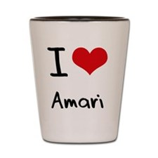 I Love Amari Shot Glass