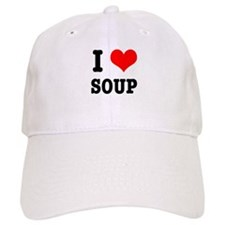 I Heart (Love) Soup Baseball Cap