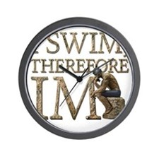 I Swim Therefore IM Wall Clock