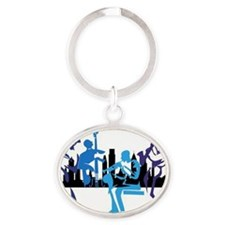All That Philly Jazz Oval Keychain