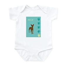 xoloitzcuintli paws Infant Bodysuit