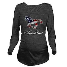 American Horse Long Sleeve Maternity T-Shirt