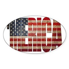 Vintage MERICA U.S. Flag Decal