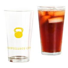 BADASS KETTLEBELL CLUB - YELLOW Drinking Glass