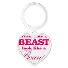 Train like a beast look like a beau Heart Keychain