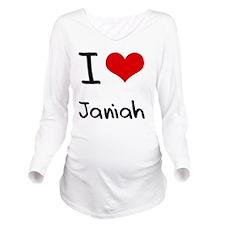 I Love Janiah Long Sleeve Maternity T-Shirt