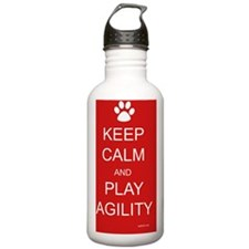 keep calm and play agi Water Bottle