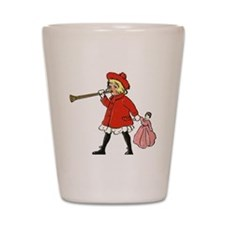 Girl with horn Shot Glass
