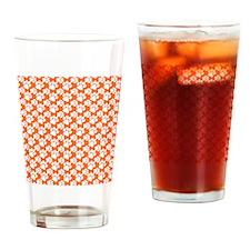 Dog Paws Clemson Orange-Small Drinking Glass