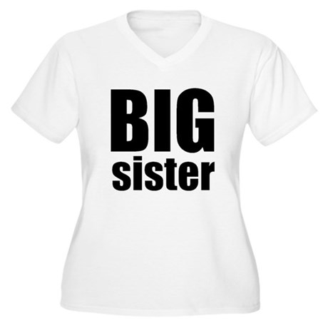 Big Sister Women's Plus Size V-Neck T-Shirt