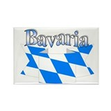Bayern flag ribbon Rectangle Magnet