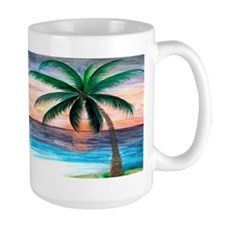 sunset palm trees Mug