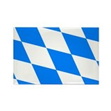 Bavarian flag (oktoberfest ) Rectangle Magnet (10