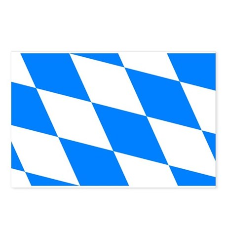 Bavarian flag (oktoberfest ) Postcards (Package of