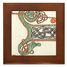 Celtic Artwork Detail Framed Tile