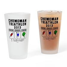 Chemoman Triathlon 2013 Drinking Glass