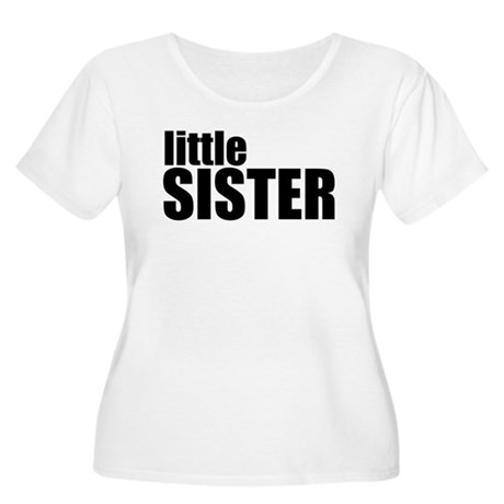 Little Sister Women's Plus Size Scoop Neck T-Shirt