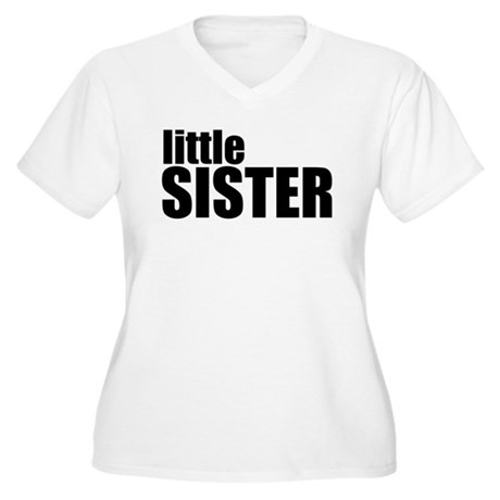 Little Sister Women's Plus Size V-Neck T-Shirt