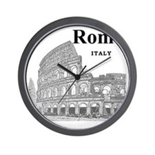 Rome_12X12_v2_Black_Colosseum Wall Clock