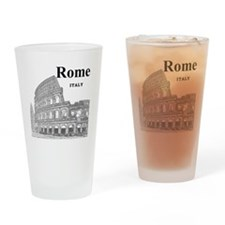 Rome_12X12_v2_Black_Colosseum Drinking Glass