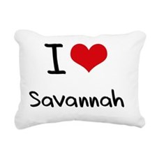 I Love Savannah Rectangular Canvas Pillow