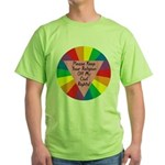 RELIGION OFF CIVIL RIGHTS Green T-Shirt